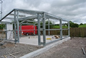 steel garage frame