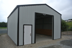 commercial building for a lorry