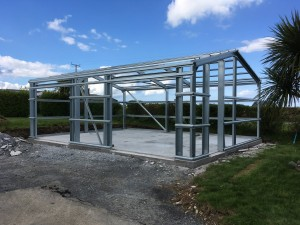 Fully galvanised steel frame