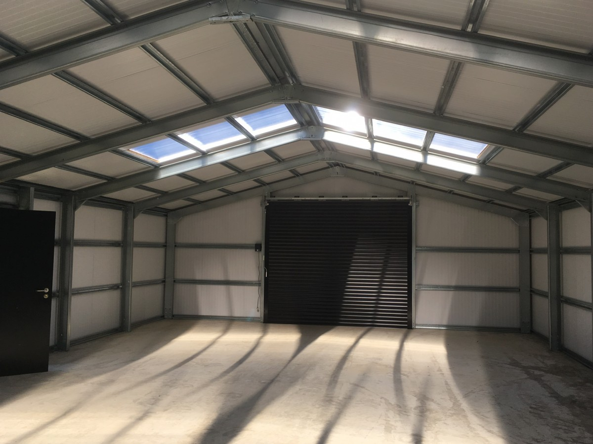 insulated building with sky lights