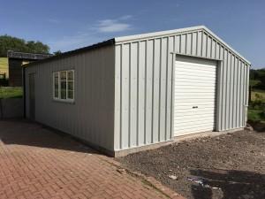 half block garage