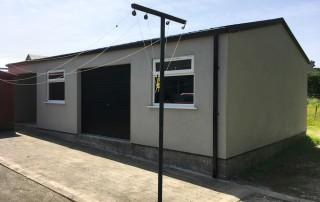 rendered garage