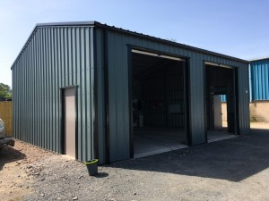 double commercial garage